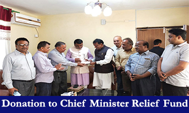 Donation to chief minister relief fund