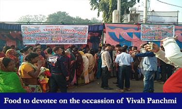 Food to devotee on the occassion of Vivah Panchmi