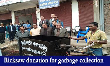 Ricksaw donation